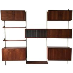 Mid-Century Modern Wall System in Style of Poul Cadovius