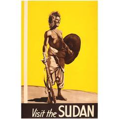 Original Vintage 1930s Travel Advertising Poster, Visit The Sudan, Africa