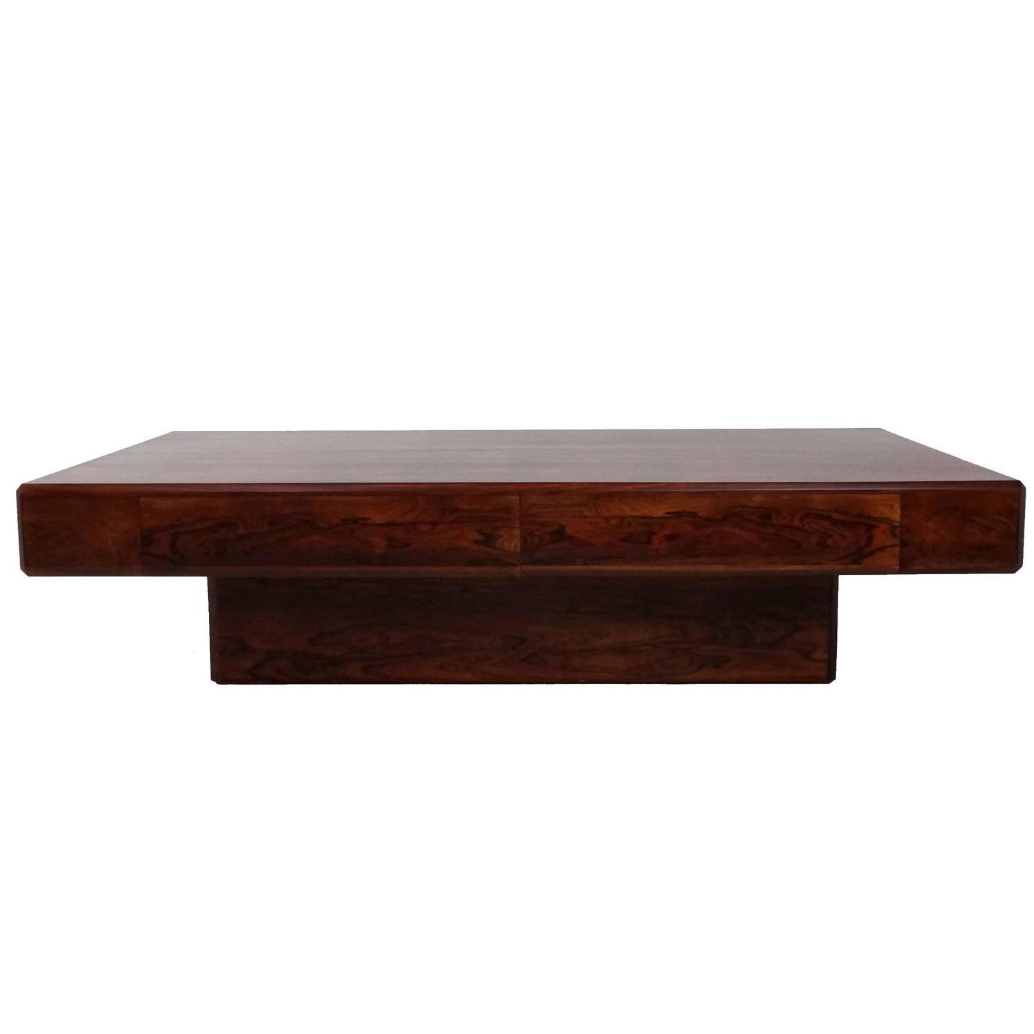 """Low Rio Rosewood """"Ambassador"""" Coffee Table by Howard Keith 1980s"""