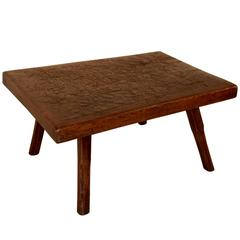 19th Century Chopping Block Coffee Table