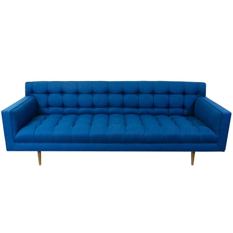 Edward J. Wormley Model-5136 Sofa with Brass Legs for Dunbar For Sale