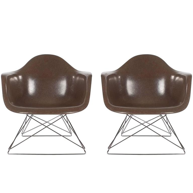 Mid-Century Modern Charles Eames for Herman Miller Fiberglass Lounge Chairs