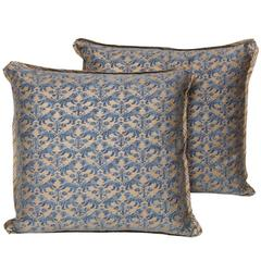 Pair of Vintage Fortuny Cushions in the Richelieu Pattern
