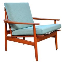 Grete Jalk for Glostrup Mobelfabrik Teak Lounge Chair