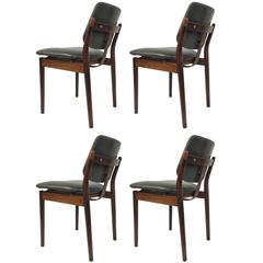 4 Danish Chairs for Sibast by Arne Vodder