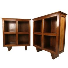 Pair of Vintage Low Bookcases
