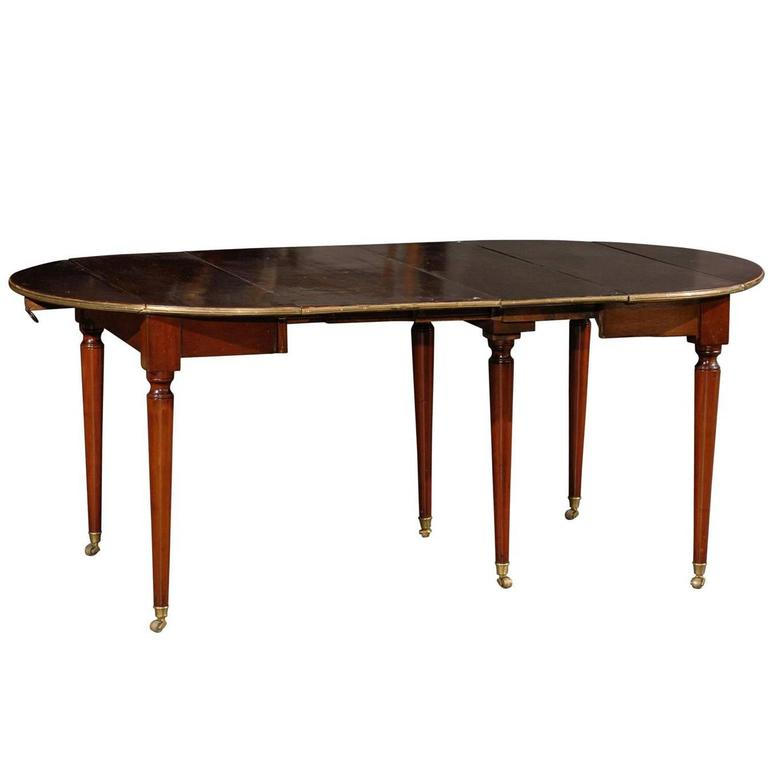 19th century french extension dining table two leaves for sale at