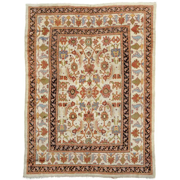Late 19th Century Oushak Carpet