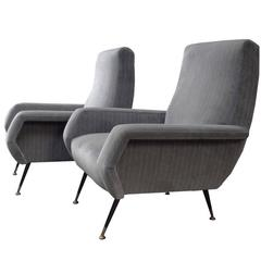 Mid-Century Club Chairs in the Style of Marco Zanuso