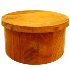 Solid Teak Ice Bucket Designed by Quistgaard for Dansk Early Production