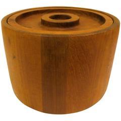 Solid Teak Danish Modern Ice Bucket Designed by Quistgaard for Dansk