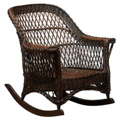 Heywood-Wakefield Pair of Wicker Rockers