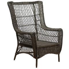 Bar Harbor Wicker Chair, circa 1915-1925