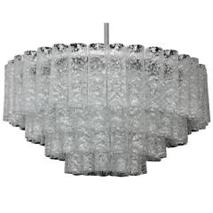 Large  MidCentury Doria Murano Glass Chandelier Pendant Light, 1960s