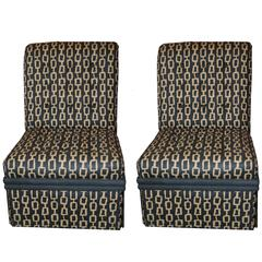 James Mont Style Slipper Chairs