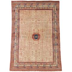 Late 19th Century Chinese Khotan Carpet