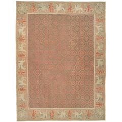 Antique Romanian Gallery Rug With Victorian Style For Sale