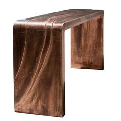 Mauro Mori Consoil Table in Fondente Copper