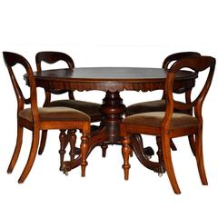 19th Century Mahogany Antique Dining Set