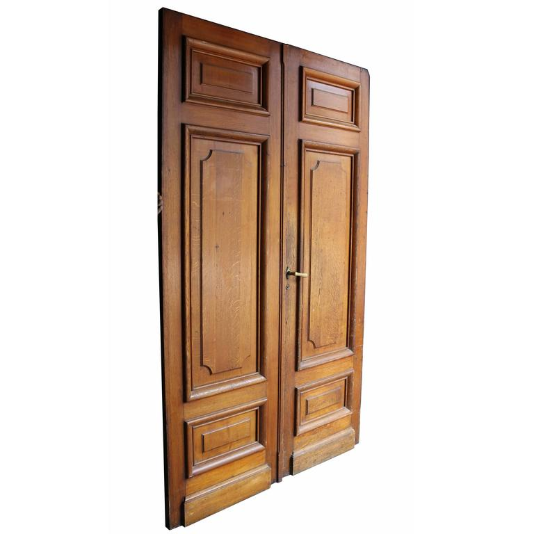 Pair of Antique Exterior Oak Double Doors For Sale - Pair Of Antique Exterior Oak Double Doors