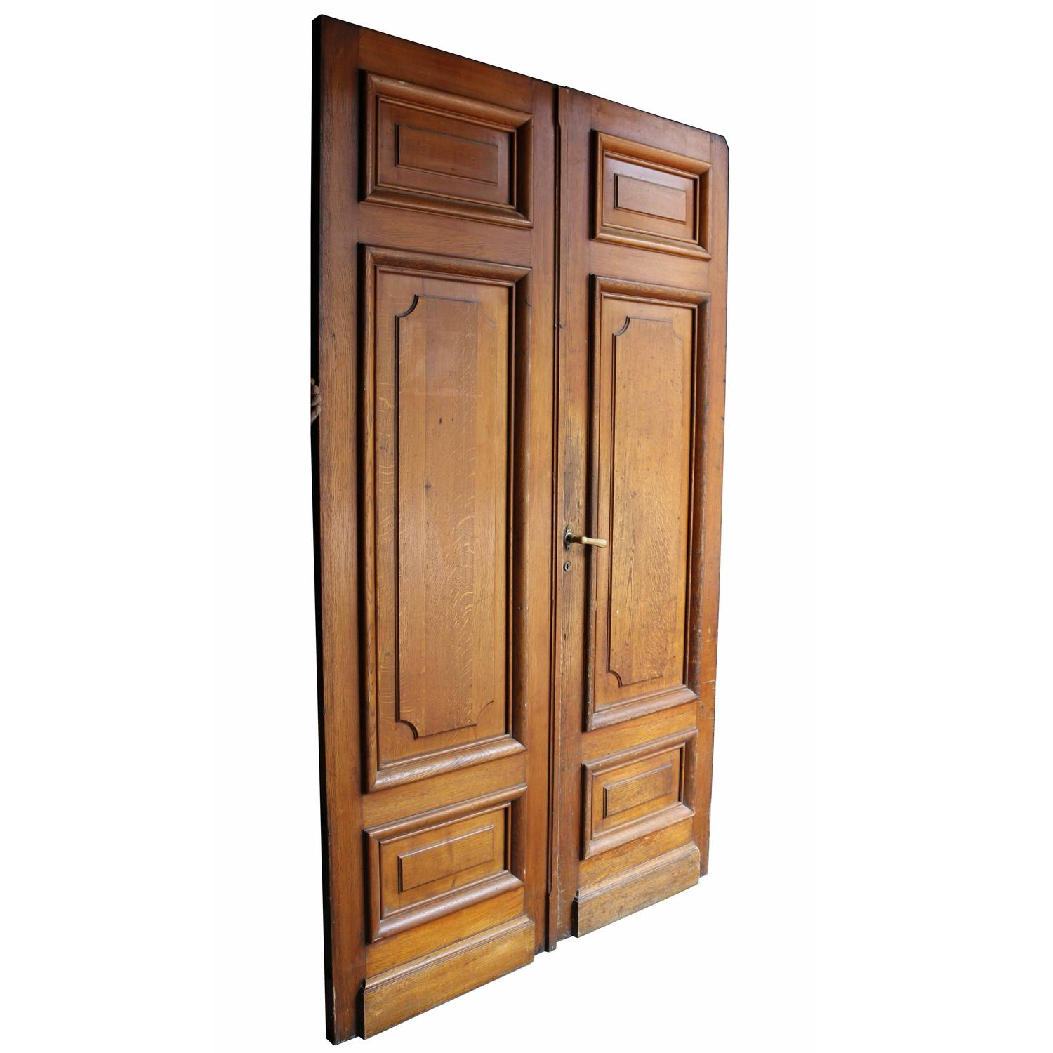 Pair of antique exterior oak double doors for sale at 1stdibs for Exterior double french doors for sale