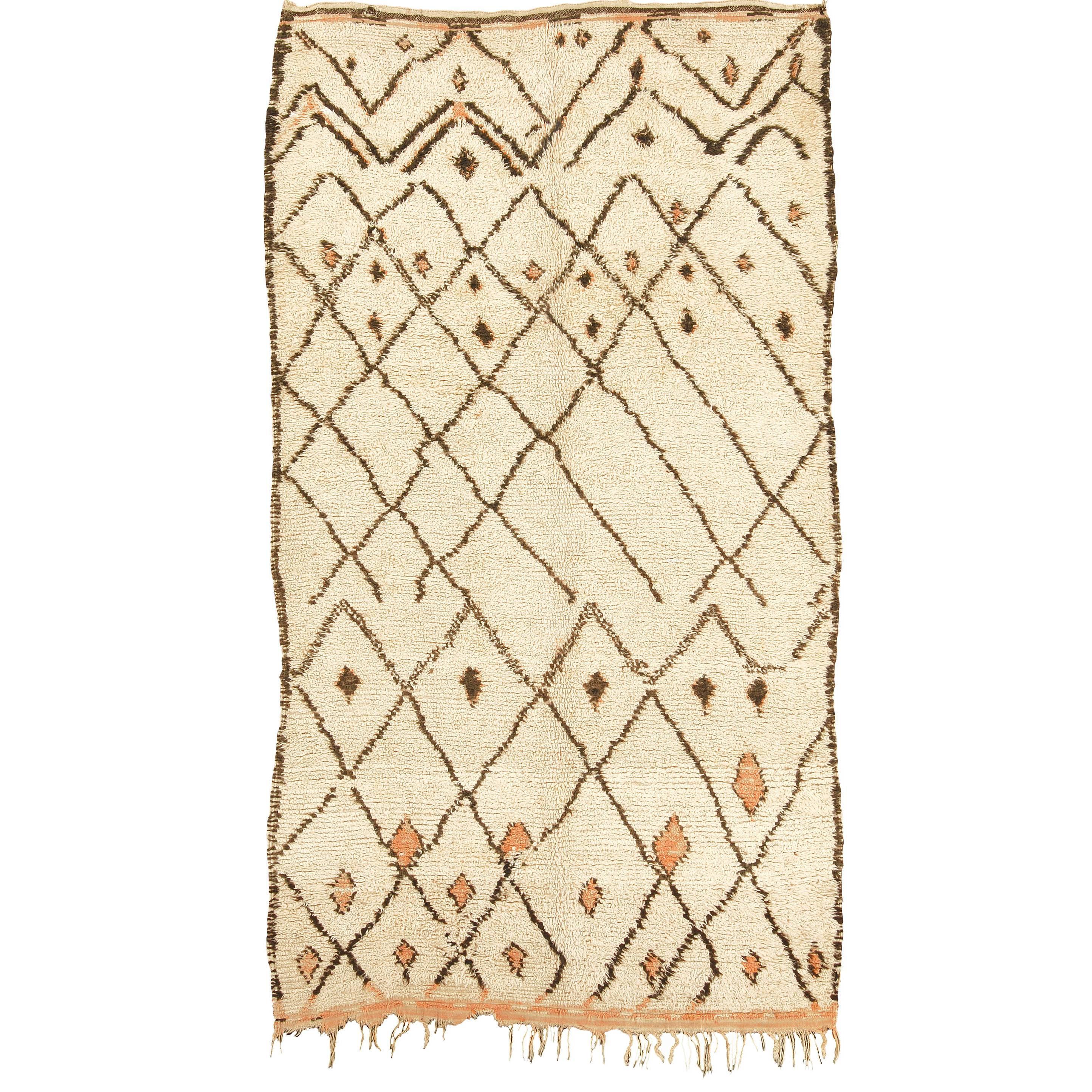 Mid-20th Century Beni Ouarain Carpet