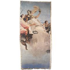 """Fresco """"Rezzonico"""" Print on Gessoed Burlap"""