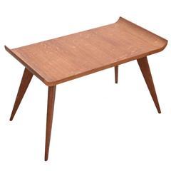 Spanish Modernist Pagoda Coffee or Side Table in Oak by Manuel Barbero 1953
