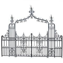 Superb English Wrought Iron Pedestrian Entrance Way, circa 1900