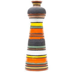Aldo Londi Striped Ceramic Vase
