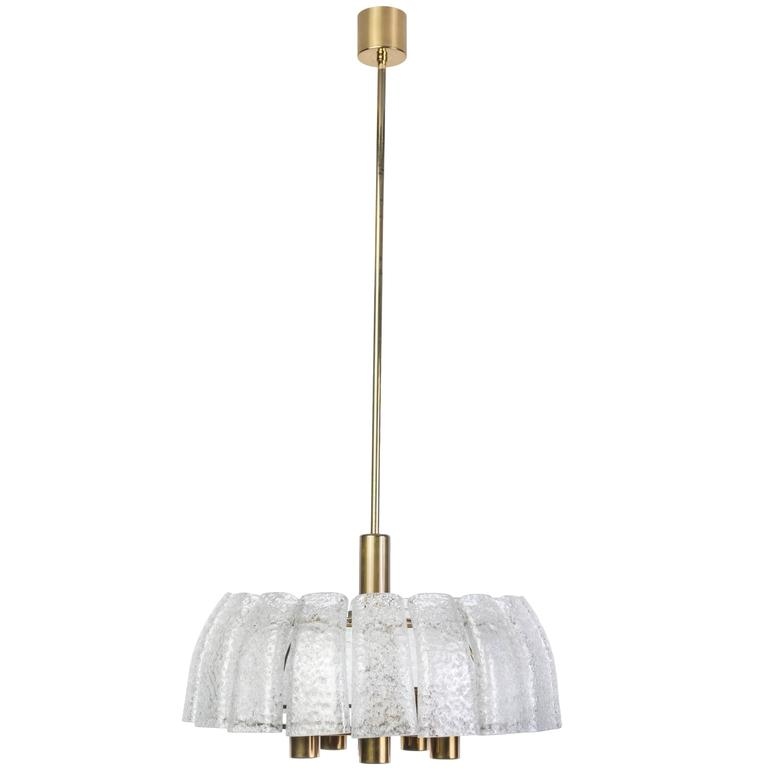 Exceptional 1950s Mid-Century Modernist Chandelier by Doria