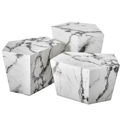 Prudente Set of Three Marble Coffee Table