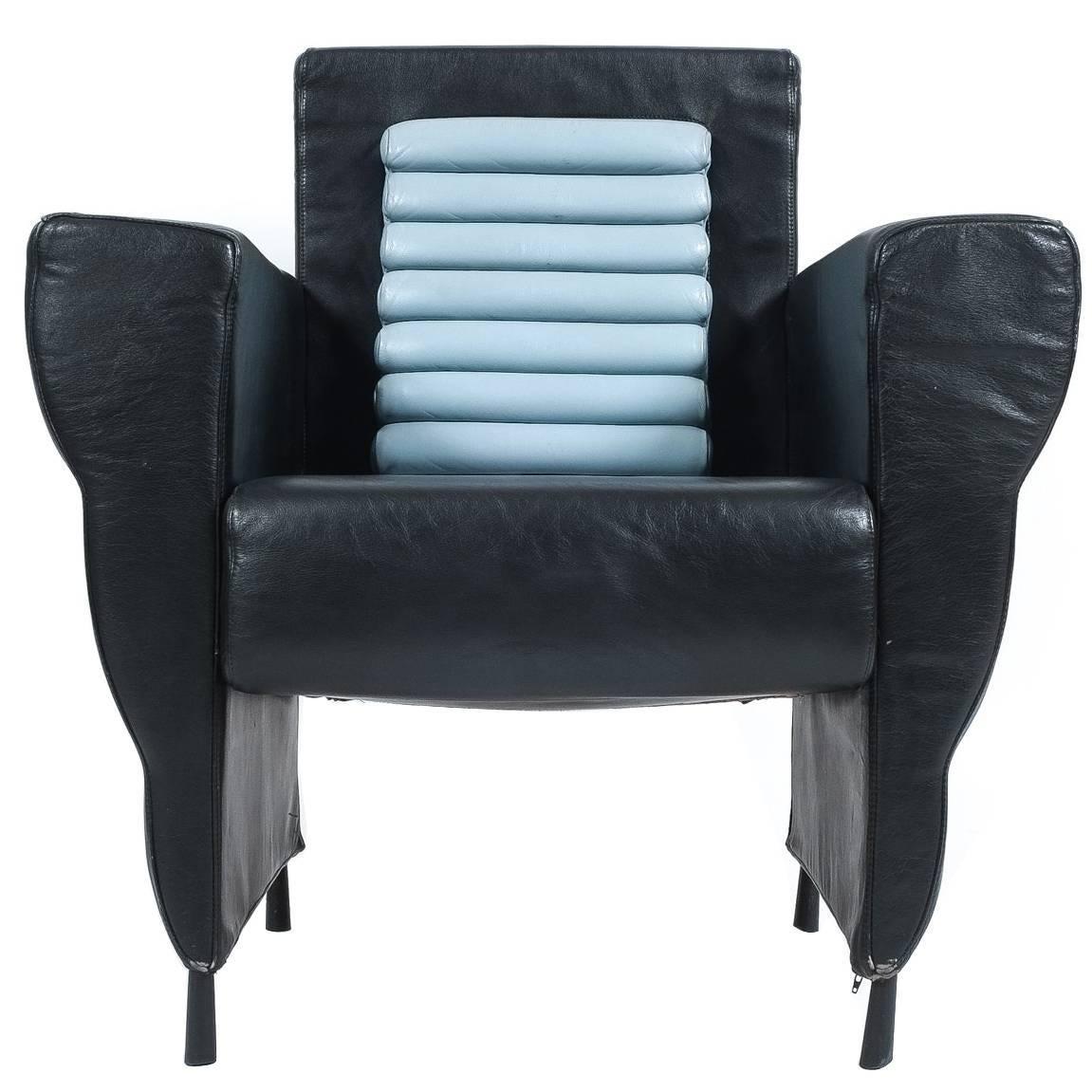 Leather Armchair by Ugo La Pietra, 1985