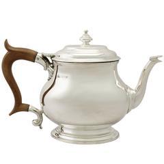 Sterling Silver Teapot, George I Style, Vintage Elizabeth II