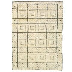 Mid-20th Century Swedish Reliefflossa Carpet by Ingrid Hellman–Knafve