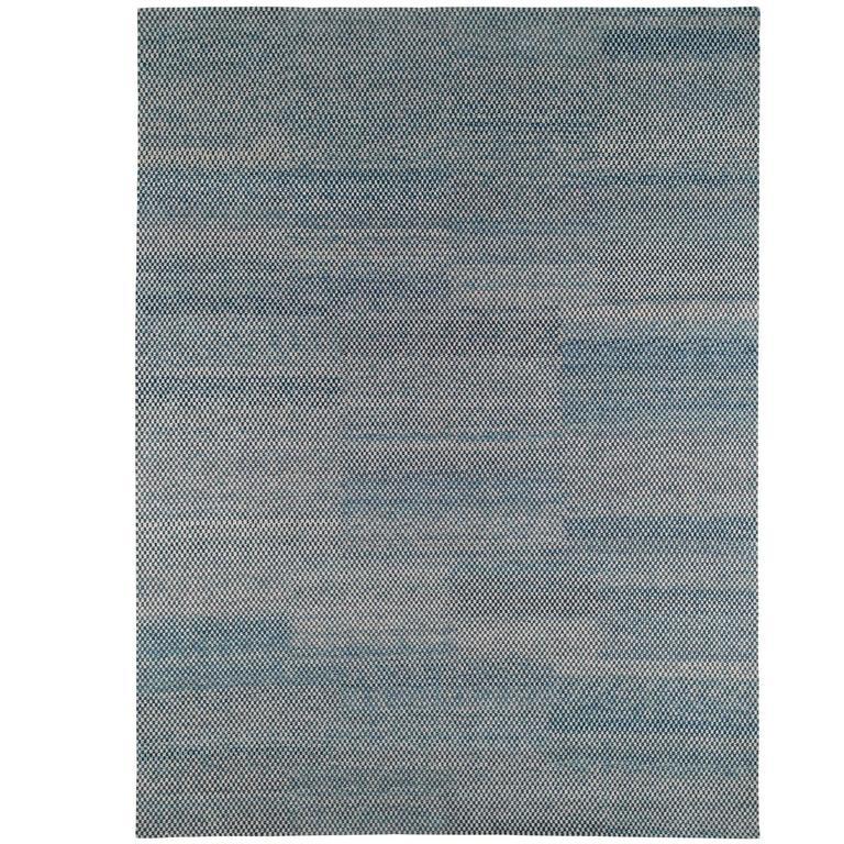 Checkerboard Area Rug: Modern Indigo 'Checkerboard' Area Rug For Sale At 1stdibs
