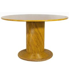 Bamboo Dining Table in the Style of Gabriella Crespi, circa 1970, France