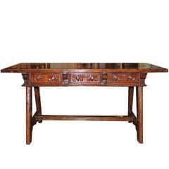 Fine Spanish Walnut Desk
