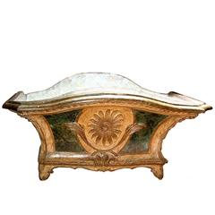18th Century Polychrome and Parcel-Gilt French Louis XV Jardinière