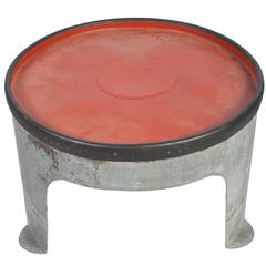 French Round Iron Coffee Table