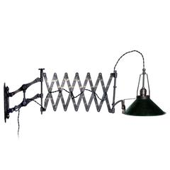 Hardy Scissor Lamp with Parallax Mirrored Shade