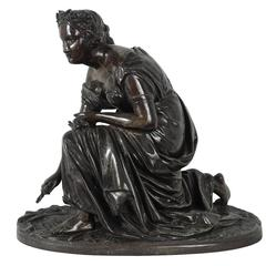 Nice Late 19th Century French Bronze Sculpture of a Classical Maiden