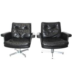 Pair of Lounge Chairs by H. W. Klein, 1960s, Denmark