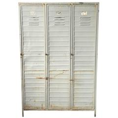 Industrial Locker Cabinet, 1950s-1960s