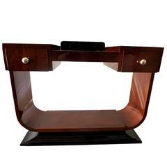 Large Art Deco Mahogany Console Table