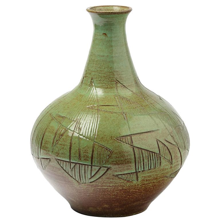 Amazing Ceramic Vase by Accolay, circa 1960-1970