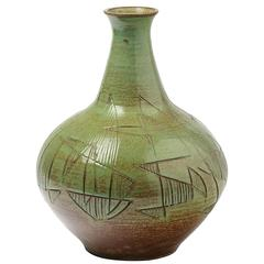 Amazing Ceramic Vase by Accolay, circa 1960-1970