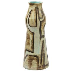 Extraordinary Ceramic Vase by Accolay, circa 1960-1970, Unique Piece