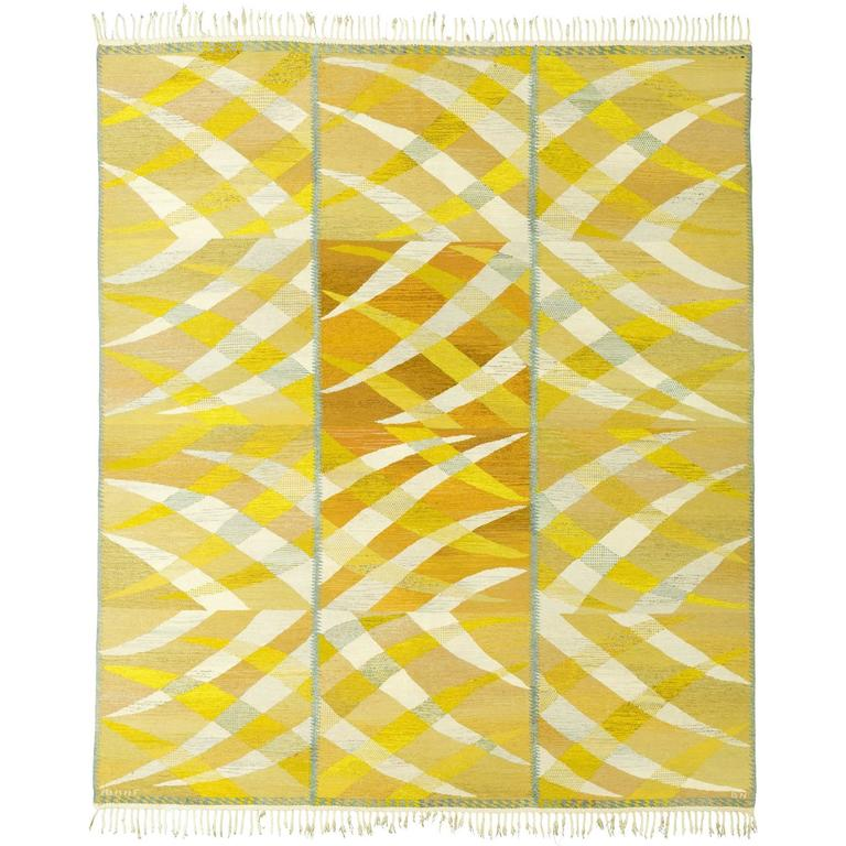 Swedish Flat-Weave Carpet by Barbro Nilsson, 1964 For Sale
