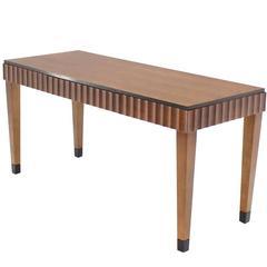 Modern Scallop Edge Desk or Writing Table